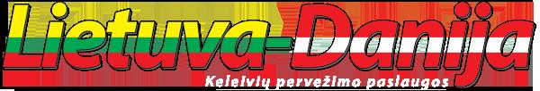 Vežame keleivius Lietuva-Danija Logo